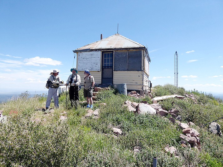 Historic fire lookout on top of Hyde Mountain. (Nigel Reynolds/Courtesy)