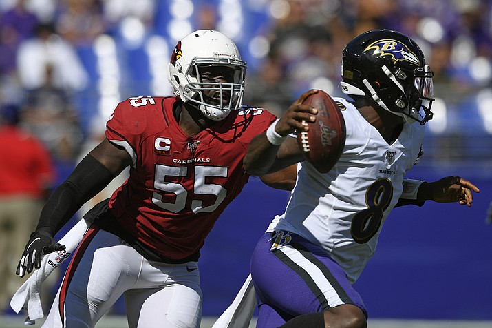 best sneakers 30bab 24c7e Lamar Jackson helps Ravens run past Cardinals 23-17 | The ...