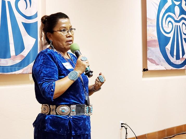Arizona Sen. Jamescita Peshlakai participated at an indigenous people's forum Sept. 12 at Museum of Northern Arizona. (Erin Ford/WGCN)