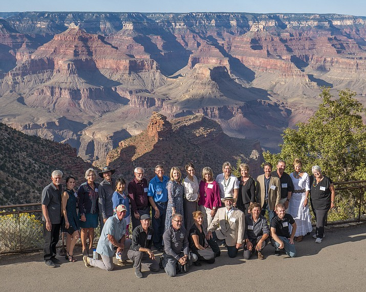 Celebration of Art participants gather for a photo on the South Rim. (Mike Quinn/NPS)