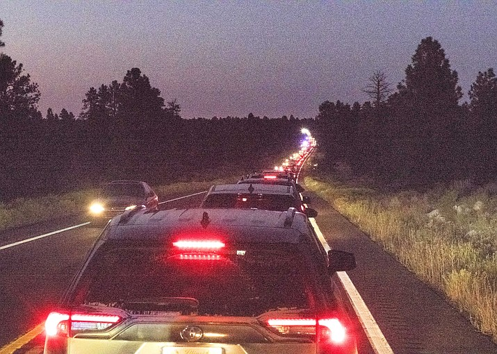 State Highway 64 was closed for nearly three hours Sept. 13 because of a multiple-vehicle accident about six miles south of Tusayan. (Veronica R. Tierney/WGCN)
