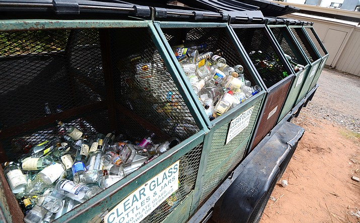 """County Supervisor Tom Thurman on future funding for Sedona Recycles: """"We can't keep subsidizing a service when the private sector is figuring out how to do the same tasks."""" VVN/Vyto Starinskas"""