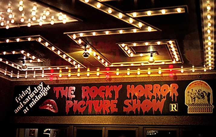 The Rocky Horror Picture Show opening night on January 1978 in Merced, California. (Photo by Robin Adams, General Manager, UA Cinema, Merced California, 1978. [CC BY-SA 3.0 (https://creativecommons.org/licenses/by-sa/3.0)