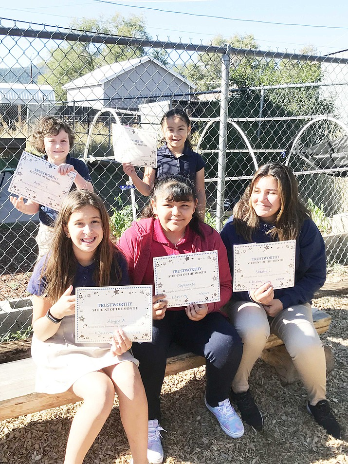 Heritage Elementary School recently announced its September Students of the Month. The character trait for September is being trustworthy. Back row, from left: Arthur Strange-Rincon and Nathalie Arredondo. Front row, from left: Alayna Avila, Stephanie Martinez and Shealse Cruz. (Photo/Heritage Elementary)