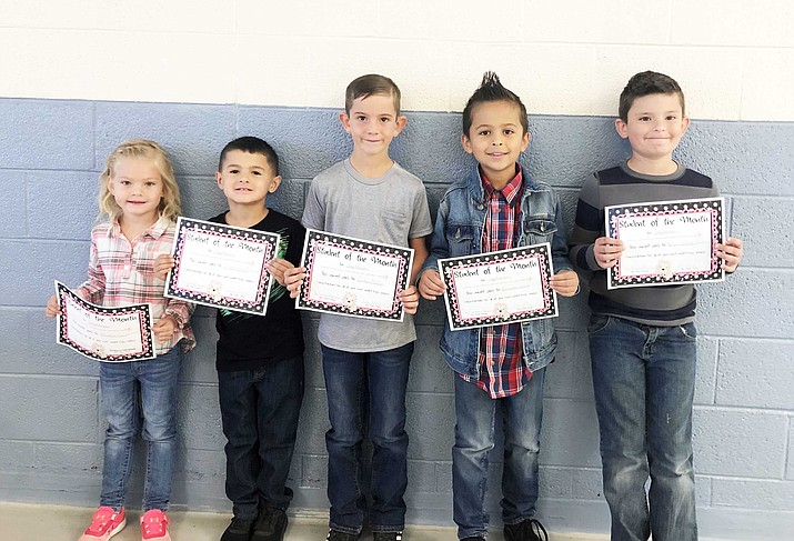 Williams Elementary School Students of the Month for September. Not pictured: Cheyanne Williams. (Photo/Williams Elementary-Middle School)