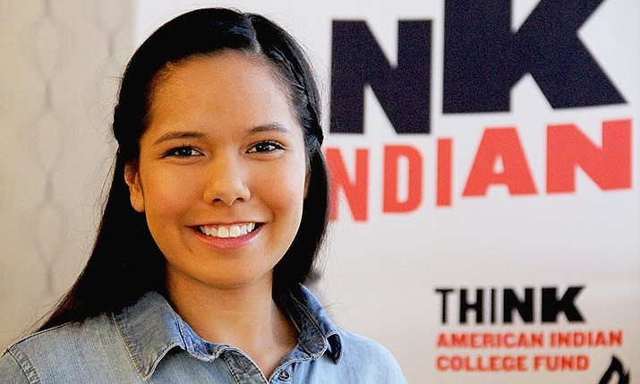 "American Indian College Fund — ""Think Indian."" (Photo courtesy of the American Indian College Fund)"