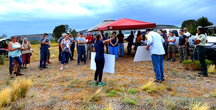 An on-site community meeting on the Under Canvas plan took place Aug. 6 that saw about 30 to 40 neighbors share concerns about the proposal overlooking Sedona Red Rock country and Sycamore Canyon Wilderness. VVN/Vyto Starinskas