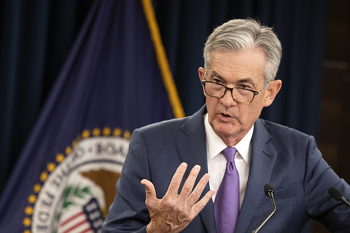 In this July 31, 2019, file photo Federal Reserve Chairman Jerome Powell speaks during a news conference following a two-day Federal Open Market Committee meeting in Washington. On Wednesday, Sept. 18, the Federal Reserve released its latest monetary policy statement. (Manuel Balce Ceneta/AP, File)