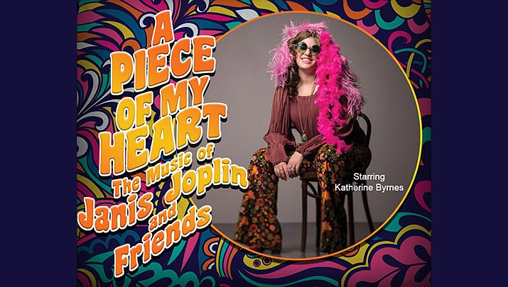 """Award-wining singer/producer Katherine Byrnes brings the passion of legendary performer and rock icon Janis Joplin to the stage in """"Piece of My Heart"""" at the Elks Theatre Performing Arts Center in Prescott on Saturday, Sept. 21. (Elks Theatre Performing Arts Center)"""