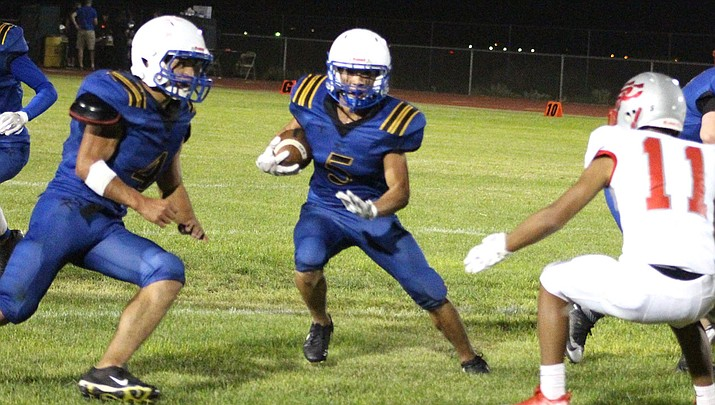 Gavin Randall has rushed for 362 yards and four touchdowns this season. Randall and the Bulldogs host ALA-Ironwood at 7 p.m. Friday. (Daily Miner file photo)