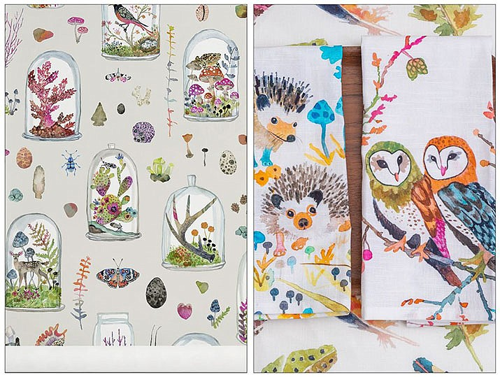 Saratoga Springs, NY-based artist and designer Betsy Olmstead translates her passion for living things into a delightful collection of watercolor, gouache and ink drawings for table linens, pillows, wallpaper and fabric by the yard. (Elizabeth Pedinotti Haynes, Betsy Olmsted Design Studio, LLC/via AP)