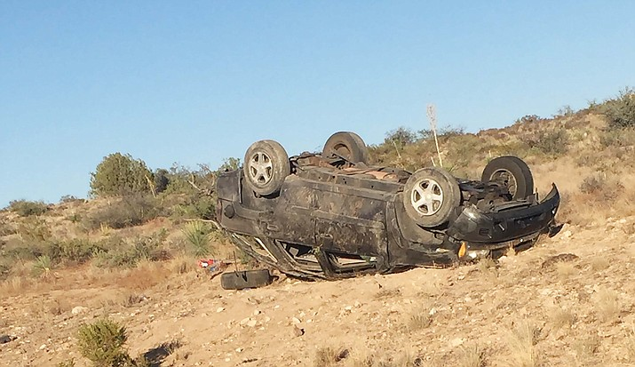 A Sedona woman was killed Thursday in a single-vehicle rollover along Beaverhead Flat Road, about 0.5 miles north of Cornville Road. Courtesy of Yavapai County Sheriff's Office