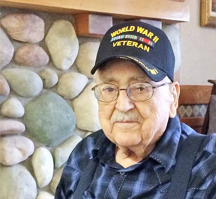 World War II Army veteran Mack Rowe, 95, has lived in Prescott since age 10 and at the Pioneers Home for the past two years, where he is known as The Candy Man and also for the upbeat attitude he shares with other residents and staff. (Sue Tone/Courier)