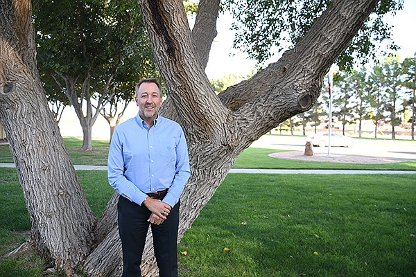 Stacy Klippenstein is the has been the Mohave Community College president for three months now. He has always had a passion for education since he was in the third grade. (Photo by Vanessa Espinoza/Daily Miner)