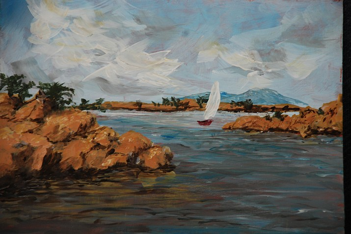 Explore different painting techniques Thursday Sept. 26, 2019 at the Phippen Museum as artist Neal McEwen, Phippen's education coordinator, leads participants through the step-by-step process of creating their own original, Prescott-themed, acrylic painting of Watson Lake suitable for framing. (Phippen Museum/Courtesy)