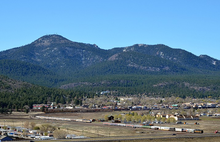 Kaibab National Forest is continuing work on the restoration of Bill Williams Mountain. A contractor was recently selected to begin thinning a 300-acre steep slope on the northern side of the mountain. (USFS/photo)