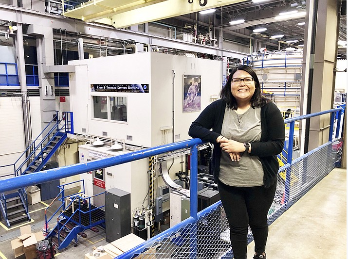 Information Technology major Nylana Murphy traveled out of state to participate in her internship, which landed her an opportunity working at NASA's Johnson Space Center (JSC) in Houston, Texas. (Photo/Navajo Technical University)