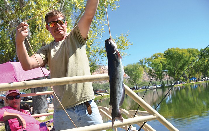 Guests of all ages are welcome to fish in the lagoon that is loaded with hundreds of pounds of catfish during Saturday's Verde River Day at Dead Horse Ranch State Park. VVN/Vyto Starinskas