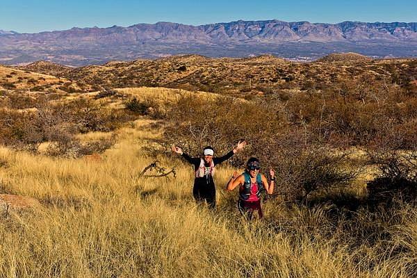 Hikers set out on part of the Arizona Trail located near Oracle State Park. (Photo courtesy of Arizona State Parks)