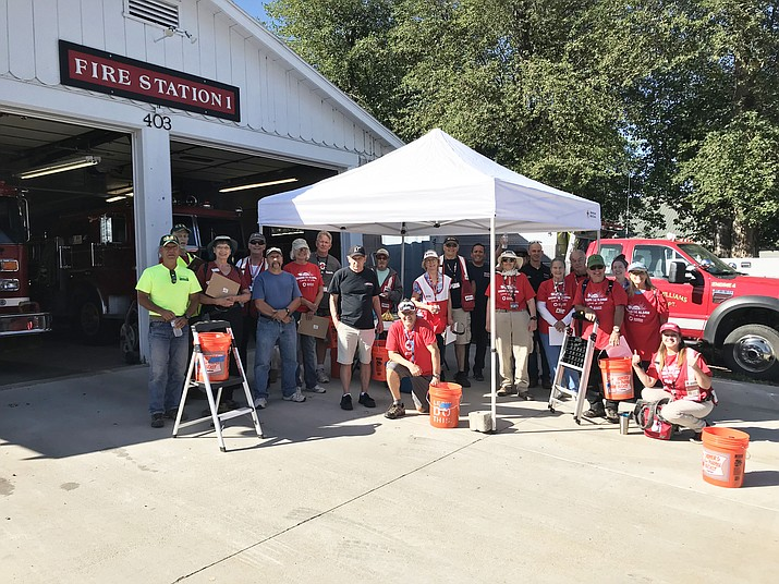 Williams Volunteer Fire Department joined members of the American Red Cross, CERT and Coconino County to distribute smoke and carbon monoxide detectors Aug. 24.  (Williams Volunteer Fire/photo)