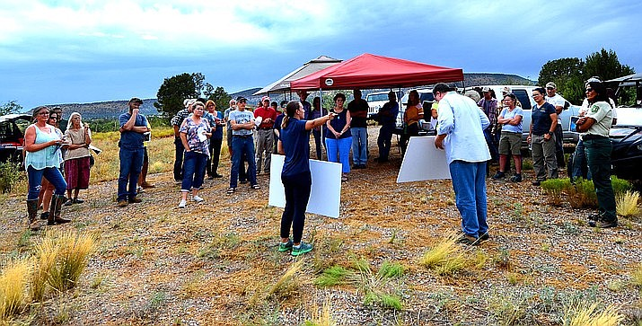 An on-site community meeting on the Under Canvas plan took place Aug. 6 that saw about 30 to 40 neighbors share concerns about the proposal overlooking Sedona Red Rock country and Sycamore Canyon Wilderness. (Vyto Starinskas/Verde Independent)