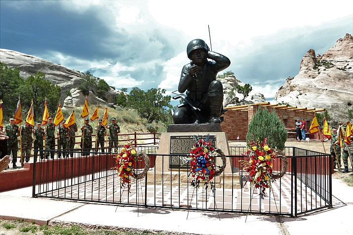 Members of the Young Marines gathered in Window Rock in August to honor and learn about the Navajo Code Talkers. (Photo courtesy of the Young Marines)