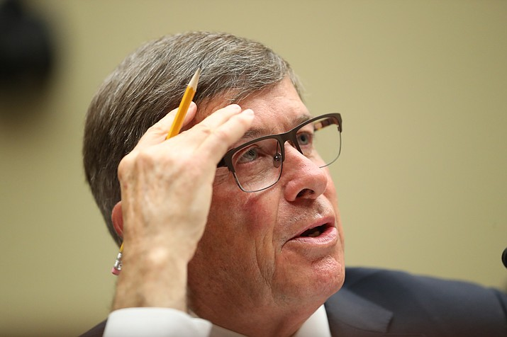 Acting Director of National Intelligence Joseph Maguire testifies before the House Intelligence Committee on Capitol Hill in Washington, Thursday, Sept. 26, 2019. (Andrew Harnik/AP)