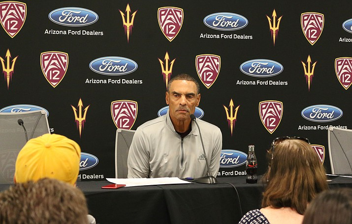 Arizona State football coach Herm Edwards has fond memories of his time as a player at California.(Photo by Karrissa D. Herrera/Cronkite News)