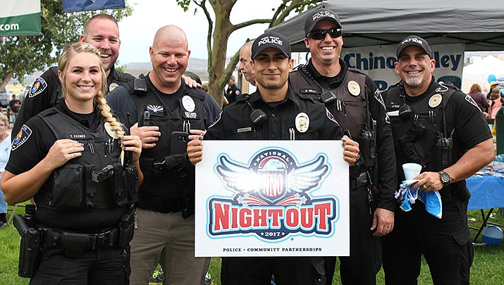 Chino Valley's 6th Annual National Night Out takes place at Memory Park in Chino Valley from 5 to 8 p.m. on Tuesday, Oct. 1. (Chino Valley Police Department, Facebook)