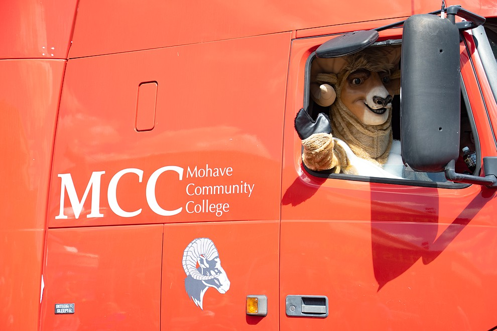 Mohave Community College bighorn mascot. (Photo by Vanessa Espinoza/Daily Miner)