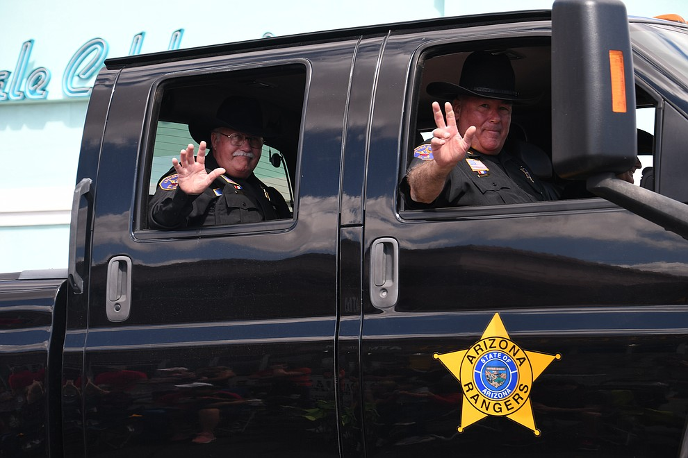 Arizona State Rangers at the 49th annual Andy Devine Days Parade. (Photo by Vanessa Espinoza/Daily Miner)
