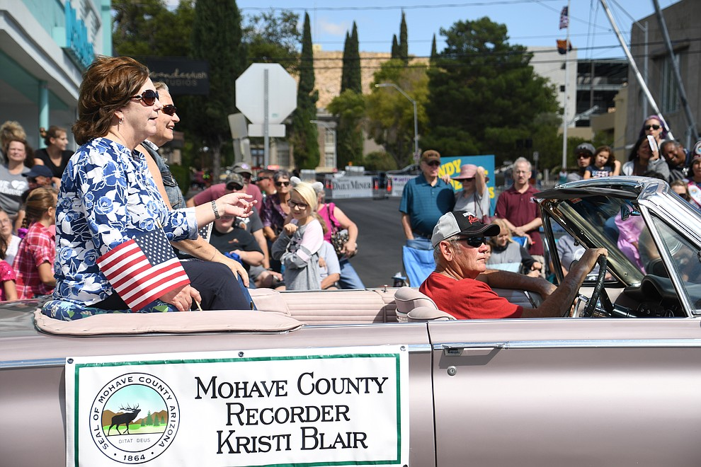 Mohave County Recorder Kristi Blair at the 2019 Andy Devine Days Parade. (Photo by Vanessa Espinoza/Daily Miner)