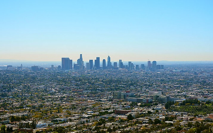 Air quality in Los Angeles has vastly improved since 1970, when California was granted the authority to set emissions standards that are tighter than federal standards. Thirteen other states have adopted California's standards. (Photo by alpe89 via Flickr/Creative Commons)
