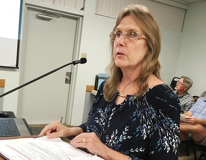 Camp Verde Planner Melinda Lee, pictured, told council that Abide Maternity Home's rezoning request to offer transitional resident housing complies with the general plan. VVN/Bill Helm
