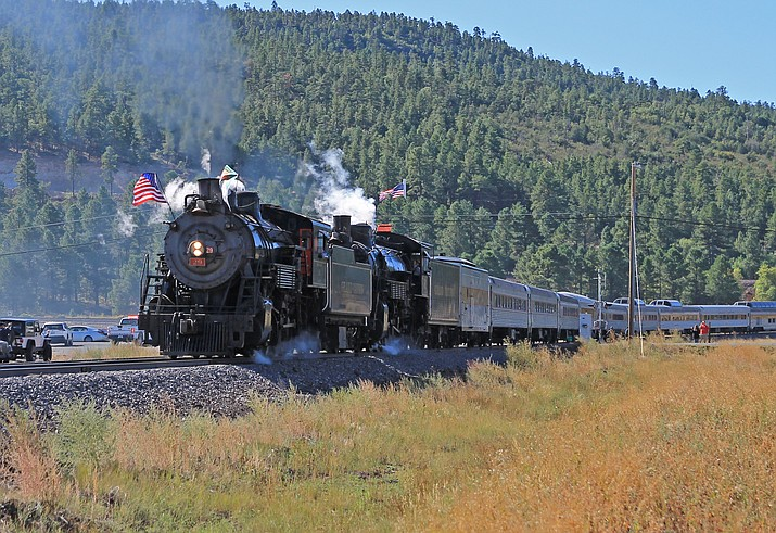The Grand Canyon Railway celebrates its 30th anniversary Sept. 17 with a double steam train to the Grand Canyon. (Wendy Howell/WGCN)