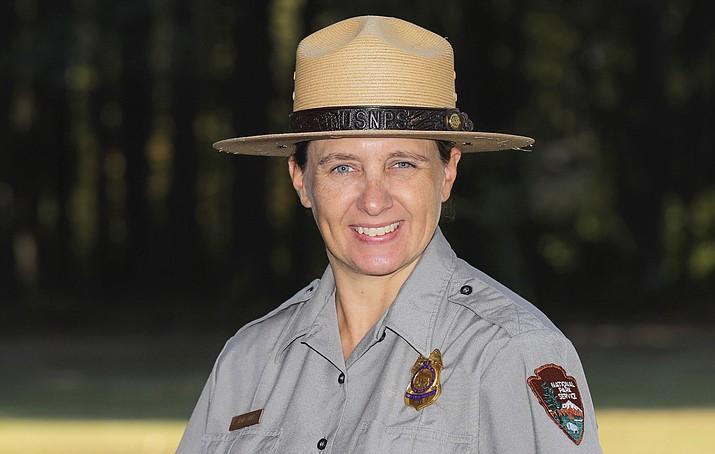 Sarah Davis was named chief ranger at Yellowstone National Park. (Photo/NPS)