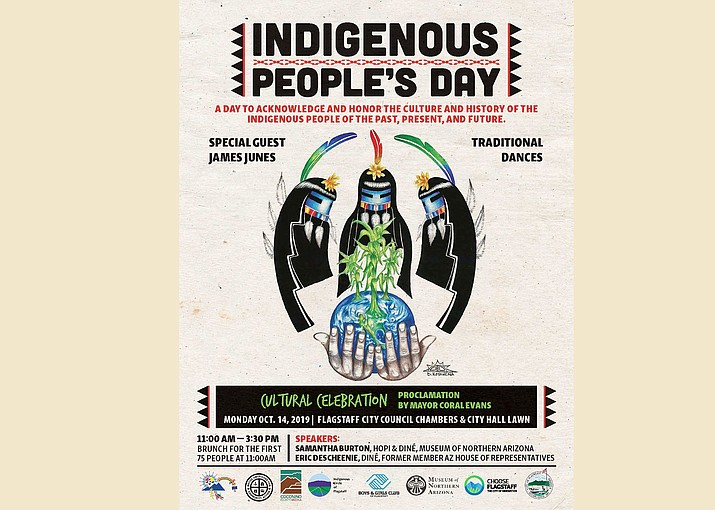 The city of Flagstaff celebrates Indigenous Peoples Day Oct.14. (Poster/Indigenous People's Day, city of Flagstaff)