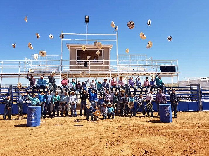 Competitors celebrate the end of the season at the 2019 WJRA finals at the Tuba City Fairgrounds Sept. 20-21. (Photo/Western Jr. Rodeo Association)