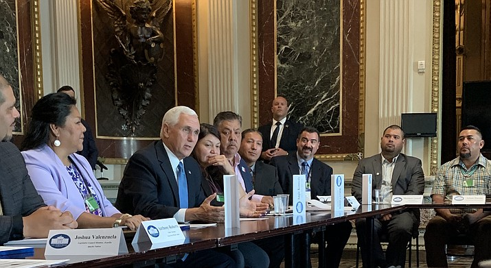 Navajo Nation Vice President Myron Lizer attended the roundtable held in the Indian Treaty Room of the White House in Washington D.C. Sept. 25. (Photo/Office of the President and Vice President)
