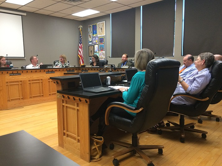 The Prescott Unified School District receives an update about how it is spending its $15 million bond and $6 million override on October 1, 2019. (Nanci Hutson/Courier)