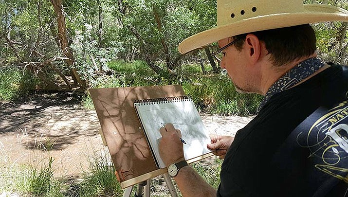 The Prescott Area Artist Studio Tour is taking place on Friday, October 4 through Sunday, October 6. Shown here is artist Steve Atkinson from Prescott, AZ. (Prescott Area Artist Studio Tour)