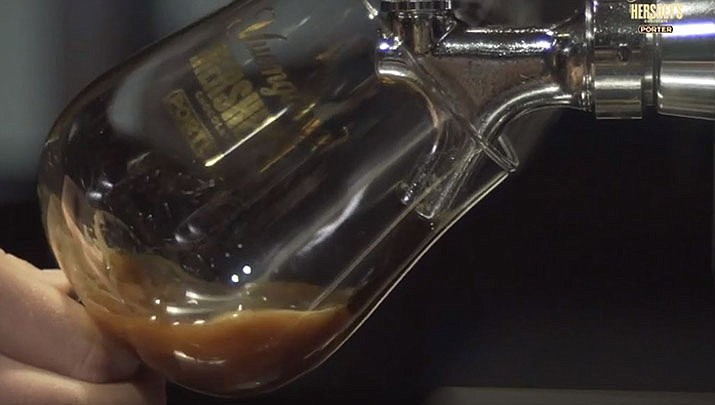 Soon on tap: a new brew featuring Yuengling's nearly 200-year-old porter recipe and Hershey's chocolate. (D.G. Yuengling & Son, Inc., Youtube)