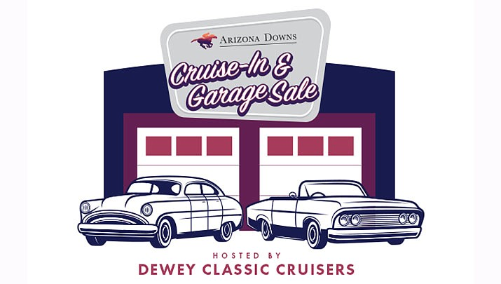 The Cruise-in & Indoor Garage Sale takes place at Arizona Downs in Prescott Valley from 10 a.m. to 2 p.m. on Saturday, Oct. 5. (Arizona Downs)