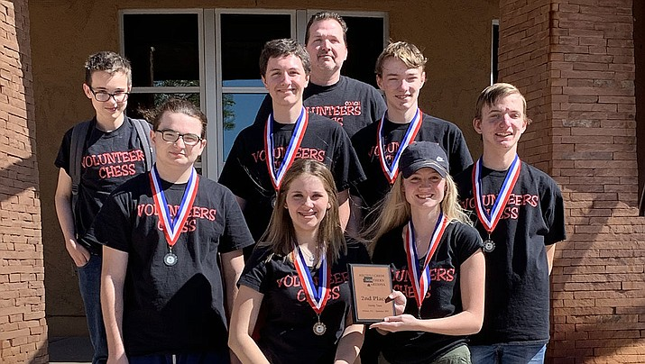 The Vols chess team poses after taking second in Holbrook. (Courtesy)