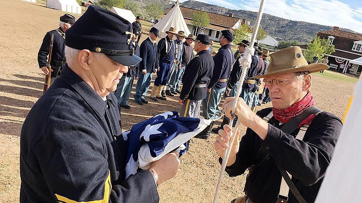 Don't miss the flag raising at Fort Verde State Historic Park, scheduled for 9 a.m. Saturday, Oct. 12 and Sunday, Oct. 13 as part of Fort Verde Days. VVN/Bill Helm