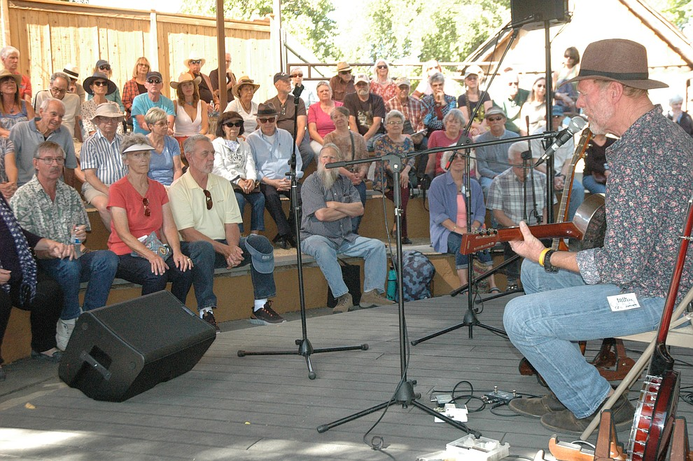 Eric Ramsey performs in the Sharlot Hall Museum's amphitheater during the 41st annual Folk Music Festival Saturday, Oct. 5, 2019. The festival continues through Sunday, Oct. 6, at Sharlot Hall Museum. (Jason Wheeler/Courier)