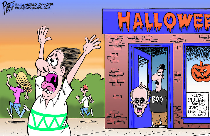 Editorial cartoon (1): Oct. 7, 2019