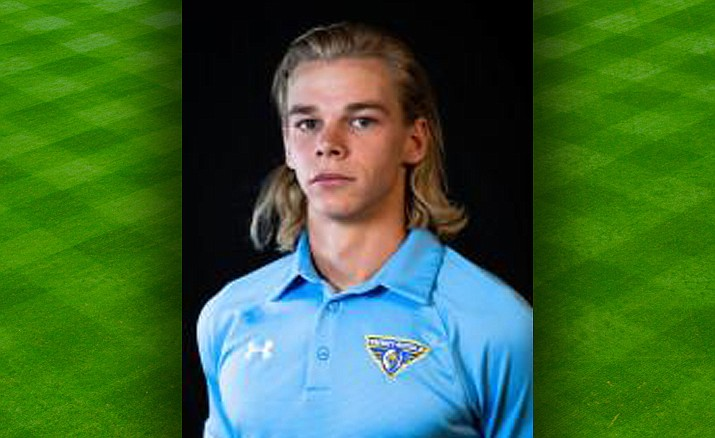 Embry-Riddle's Mason Laaksonen recorded a hat trick in a 5-0 victory over Marymount California on Sunday, Oct. 6, 2019, in Prescott. (ERAU Athletics/Courtesy)