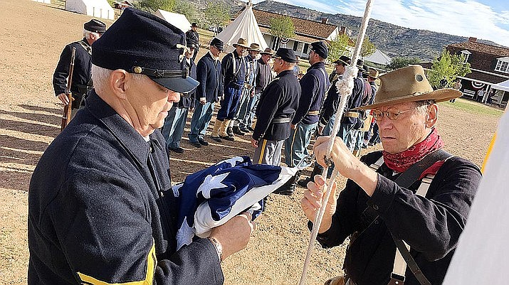 Don't miss the flag raising at Fort Verde State Historic Park, scheduled for 9 a.m. Saturday, Oct. 12 and Sunday, Oct. 13 as part of Fort Verde Days. (VVN/Bill Helm)
