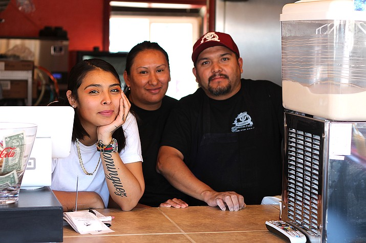 Gabriella, Veronica and Raul Dominguez have been making improvements and widening the menu at Ronaldo's. (Erin Ford/WGCN)